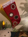 Handmade Wool Penny Stocking 13
