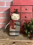Handmade Snowman with Top Hat and Scarf 10