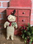 Handmade Snowman with Top Hat and Scarf 11