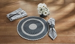 Flora Round Placemat - Gray