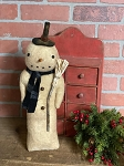 Handmade Snowman with Top Hat and Scarf 16