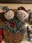 Handmade Snowman Poke With Top Hat or Stocking Cap