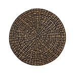 Braided Hyacinth Round Placemat - Brown Accent Candle Mat
