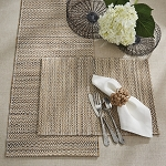 Woven Hyacinth Placemat - White