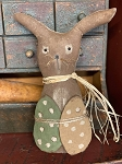 Handmade Chocolate Bunny with Eggs by Nannys Ridge Primitives