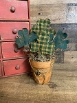 Handmade Clover St Patricks Day Flower Pot 9