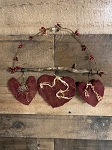 Handmade Red Hearts on Stick Hanger 9