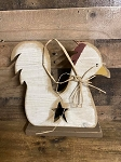 Handmade Wood Chicken Rooster 13