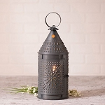 15-Inch Revere Lantern Accent Light in Blackened Punched Tin