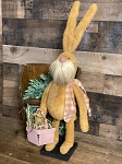 Handmade Plush Bunny Rabbit with Egg Basket 23