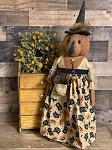 Handmade Pumpkin Witch Doll 30