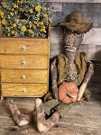 Handmade Scarecrow SUPER PRIMITIVE Can Hang or Sit