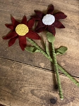Handmade Wool Flower with Needle Punched Center 14