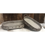 Oval Metal Trays (set of 2) 14.5