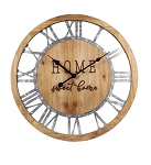 Wood/Tin Wall Clock