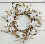 12in Wreath-Cotton with Shells Pods