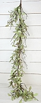4.5ft Sage Leaves with twigs Garland