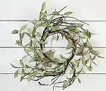 14in Sage Leaves with twigs Wreath