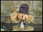 Large Salvage Scarecrow on Funnel