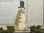 Medium Vintage Snowman Honey & Me