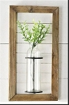 Wood Framed Wall Vase