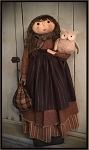 Olivia and Oliver the Owl Handmade Primitive Fall Doll by Bearing in Love