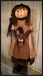 Cora and Raven Handmade Primitive Fall Doll by Bearing in Love