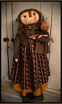 Ellie & Sadie Pumpkin Girl Handmade Primitive Fall Doll by Bearing in Love