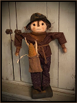 Eli Scarecrow Boy Handmade Primitive Fall Doll by Bearing in Love
