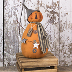Salvage Oliver Jack-O-Lantern with Star Garland  6