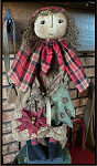 Ruby Grungy Girl with Basket, Tree, Pointsettia, Gingerbread 26