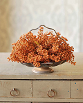 Bursting Astilbe Half Sphere | Pumpkin | 9