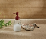 Mason Jar Soap Dispenser - Red