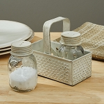 Grater Caddy with Mason Jar Salt & Pepper Set