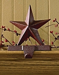 Star Stocking Hanger - Red Finish