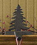 Fir Tree Stocking Hanger - Iron Finish