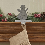 Snowman Stocking Hanger Galvinized