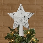 Star Tree Topper - White