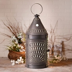 27-Inch Blacksmith's Lantern with Chisel in Kettle Black