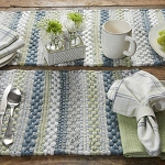 Dew Drop Chindi Placemat
