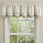 Cocoa Butter Lined Layered Valance