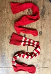 Arnett's 2018 Handmade Short Childrens Striped Stocking 18