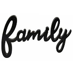 Hanging Black Script Family Sign 10