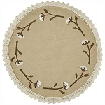Cotton Bolls Accent Mat