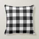 BUFFALO CHECK PILLOW WHITE/BLACK