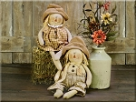Chandler and Monica Scarecrow  Sold Individually