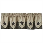 Lebanon Star Lined Point Valance