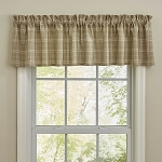 Fieldstone Plaid Valance - Cream