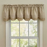 Stoneboro Lined Layered Valance - Cream