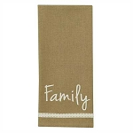 Gather Family Embroidered Dishtowel